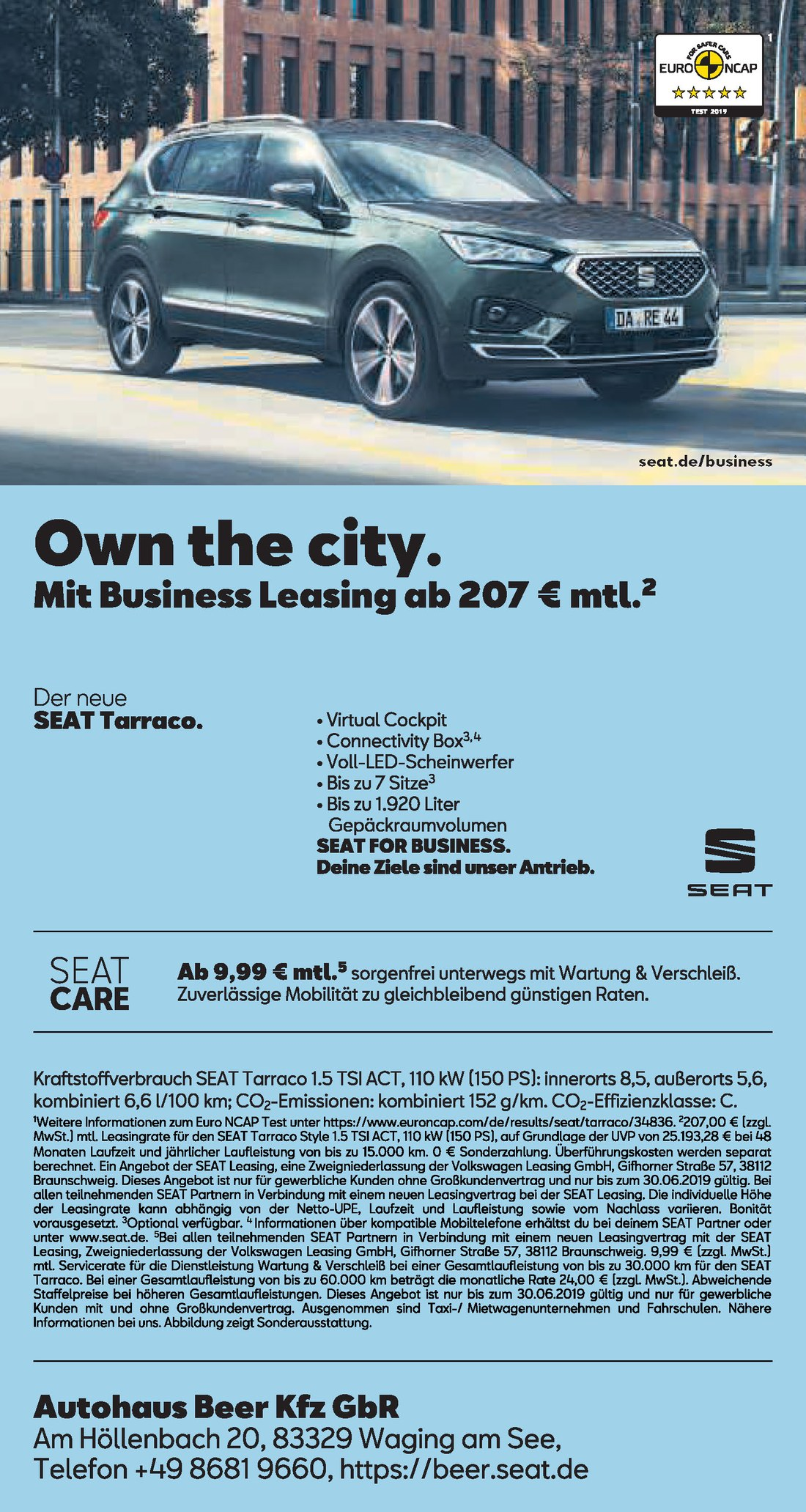 Business Leasing Seat Tarraco ua